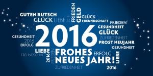 Neujahrsgruß 2016 blau